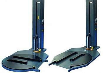 Máquina envolvedora semi-automática para filme stretch